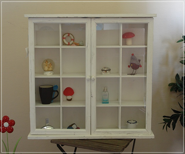 gro e sammler vitrine setzkasten wandschrank glas holz wei shabby chic neu ebay. Black Bedroom Furniture Sets. Home Design Ideas
