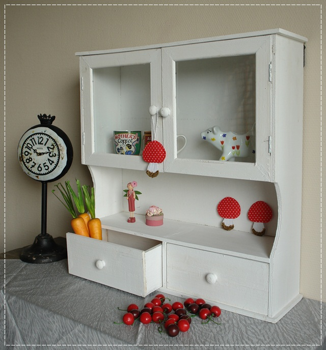 rustikaler wandschrank wei glast r vitrine schrank im shabby look ebay. Black Bedroom Furniture Sets. Home Design Ideas
