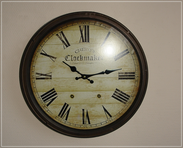 gro e wanduhr rund metall rost design clockmaker vintage used look d38cm neu ebay. Black Bedroom Furniture Sets. Home Design Ideas