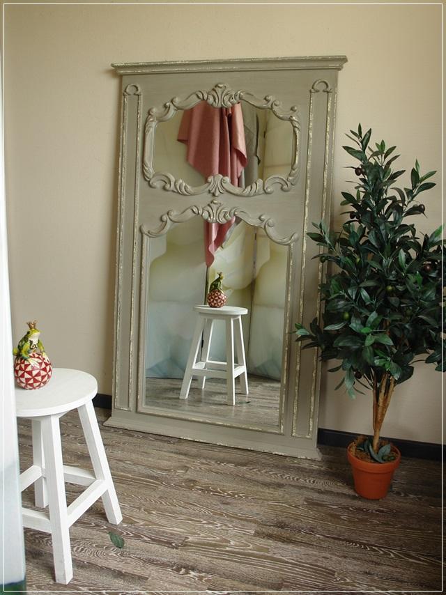gro er wandspiegel stella grau barock shabby chic impressionen miavilla neu ebay. Black Bedroom Furniture Sets. Home Design Ideas