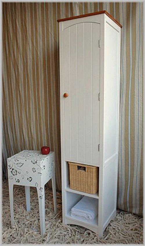 wei er schmaler landhaus badschrank country h160 neu ebay. Black Bedroom Furniture Sets. Home Design Ideas