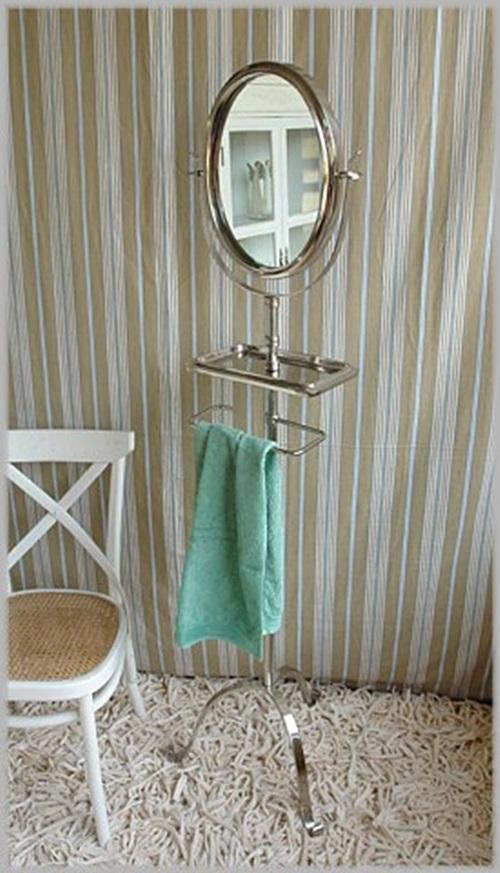 Standspiegel Mit Ablage Und Handtuchhalter Von Impressionen Neu Ebay