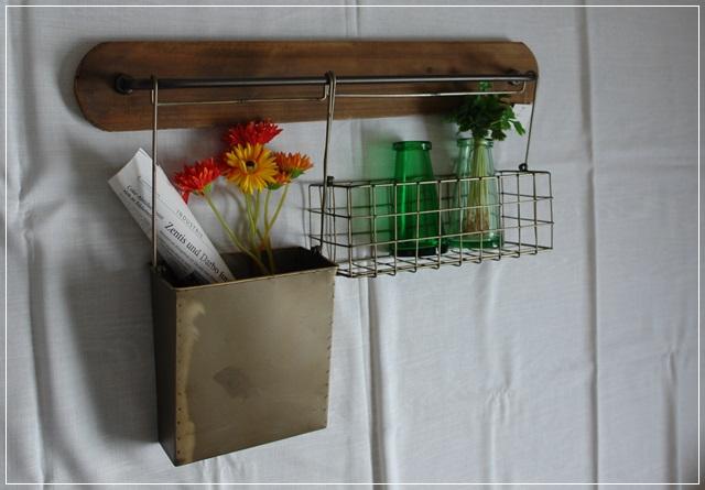 wandregal holz u metall gew rzregal h ngeregal vintage shabby neu ebay. Black Bedroom Furniture Sets. Home Design Ideas