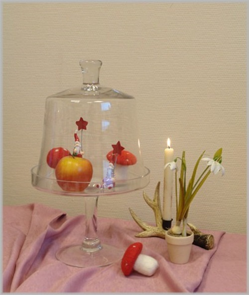 gro es glasplateau mit haube glas klar impressionen etagere mit deckel k che h45 ebay. Black Bedroom Furniture Sets. Home Design Ideas